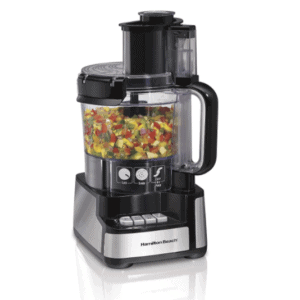 Hamilton Beach 12-Cup Stack & Snap Food Processor & Vegetable Chopper, Black