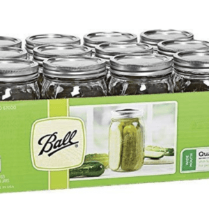 Ball Mason 32 oz Wide Mouth Jars with Lids and Bands,