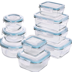 [18-Pieces] Glass Food Storage Containers with Lids