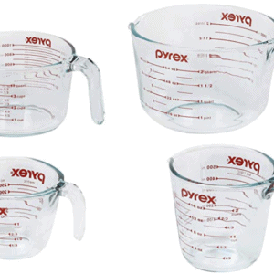 Measuring Cup Set, 4 Pack, Clear