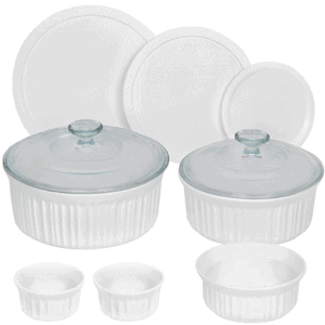 CorningWare 10-Piece Set French White Ceramic Bakeware