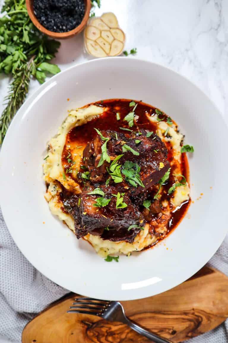 short ribs in red wine sauce