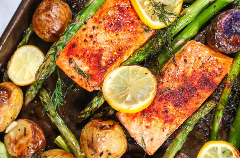 delicious easy sheet pan salmon
