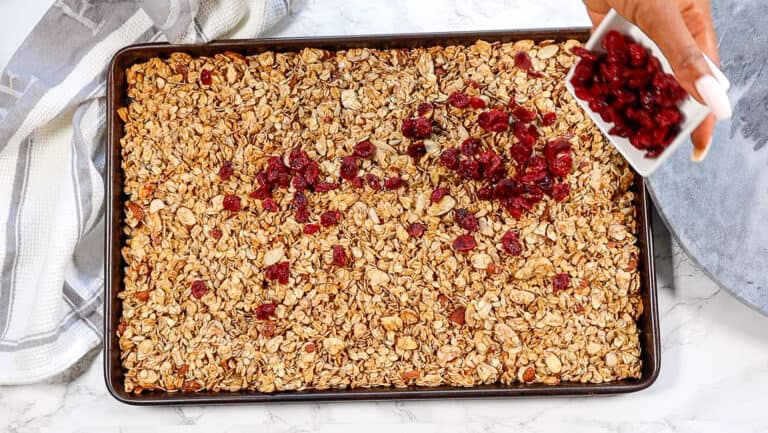 cranberries for gluten free granola