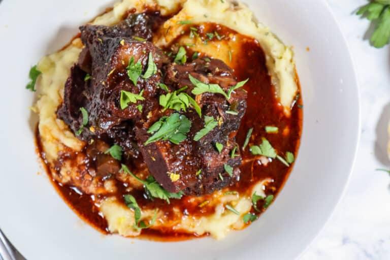 red wine braised short ribs good food baddie recipe image