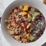 acai bowl post workout meal