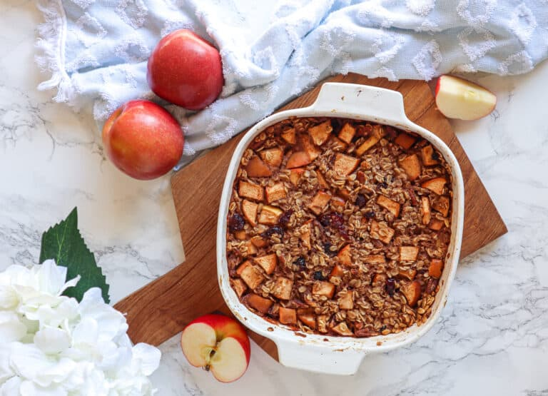 gluten free vegan apple cinnamon baked oatmeal