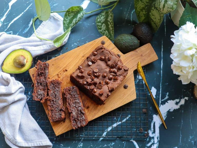 Healthy Chocolate Avocado Bread | Gluten Free and Vegan