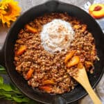 the best gluten free peach Crisp