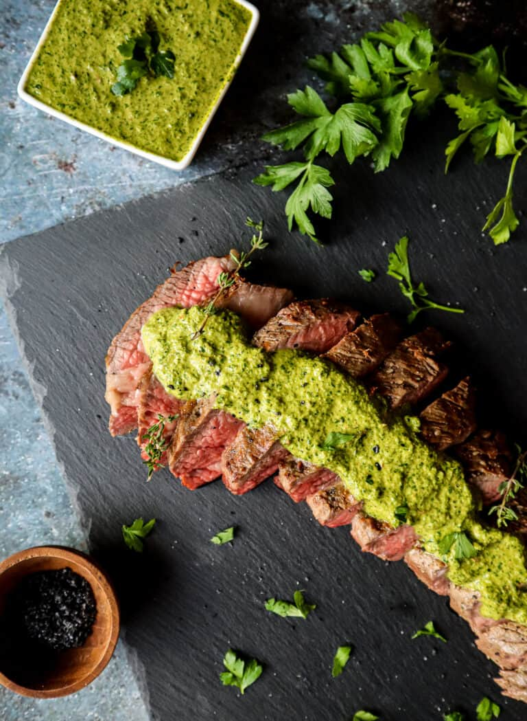 how to grilled tri-tip with chimichurri