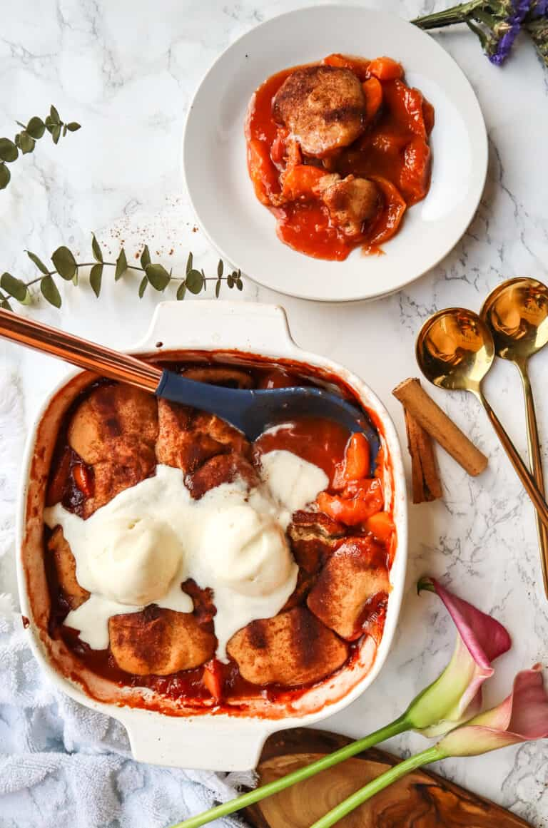 grandmas peach cobbler recipe