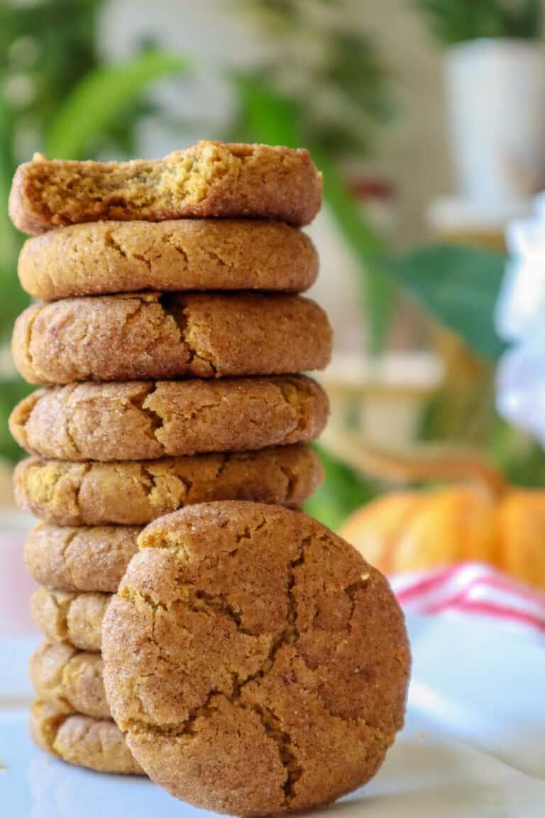 gluten free pumpkin snickerdoodle cookies