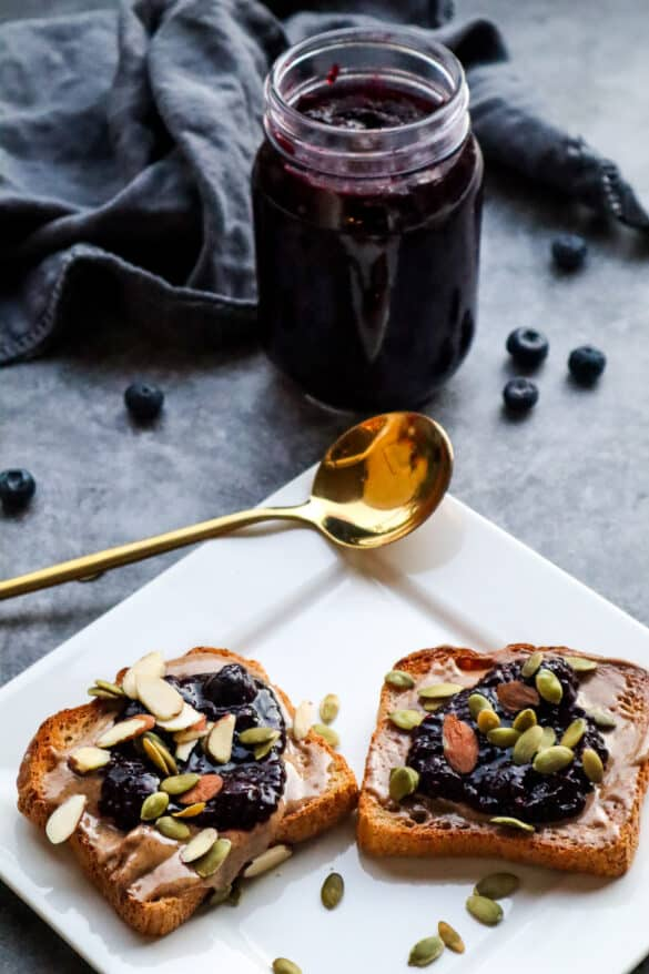 Healthy Blueberry Chia Sea Moss Jam