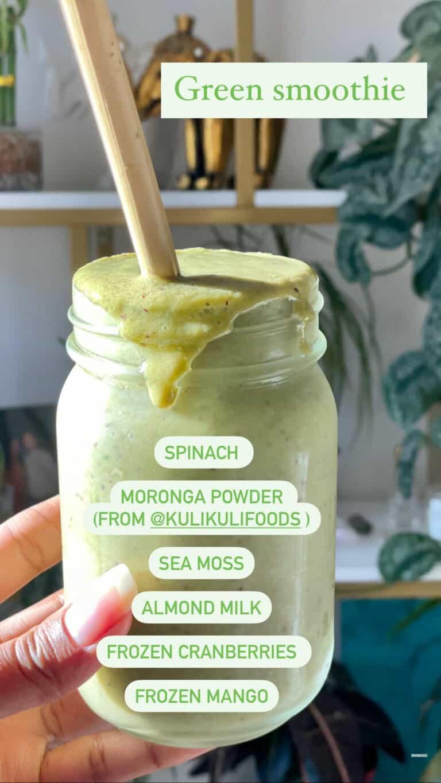 moringa powder green smoothie healthy superfood smoothies
