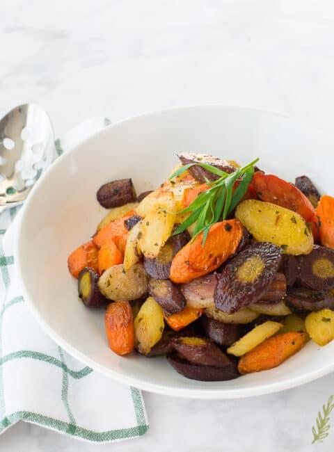 Rainbow-Carrots-in-Tarragon-Brown-Butter-Sense and Edibility