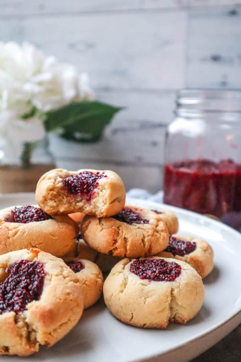 Vegan Gluten Free Thumbprint Cookies with Raspberry Jam