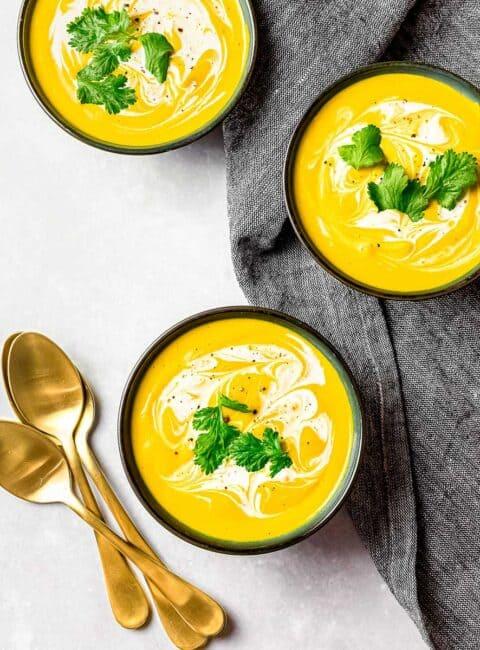 roasted-kabocha-squash-soup- drive me hungry