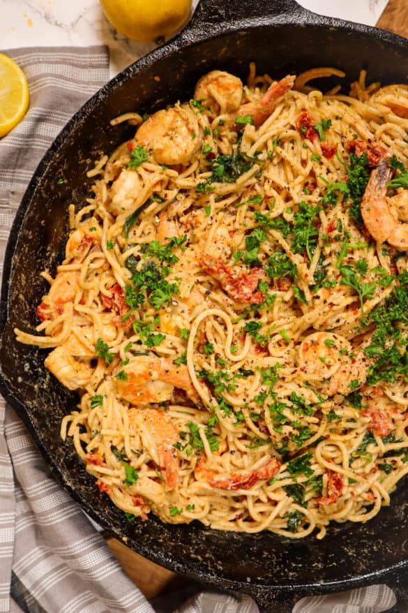creamy shrimp linguini dairy free gluten free