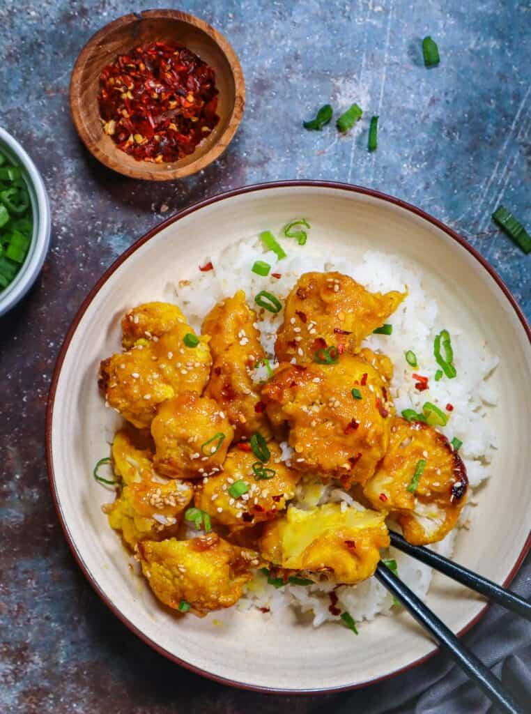 Best Baked Orange Cauliflower Wings
