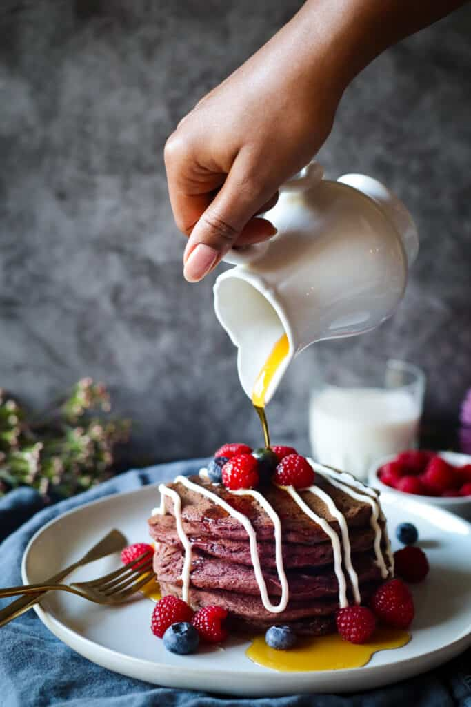 healthy-red-velvet-beetroot-pancakes