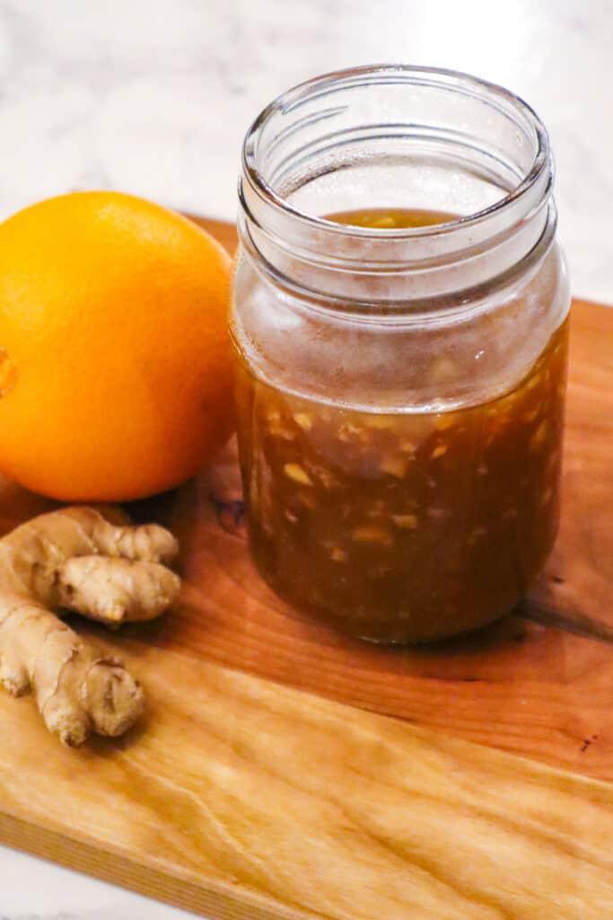 Vegan Orange Sauce Recipe  Ingredients Gluten Free. Oranges, ginger, rice vinegar, coconut amino, garlic, ginger, brown sugar, water, corn starch, maple syrup