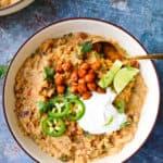 White bean quinoa chili