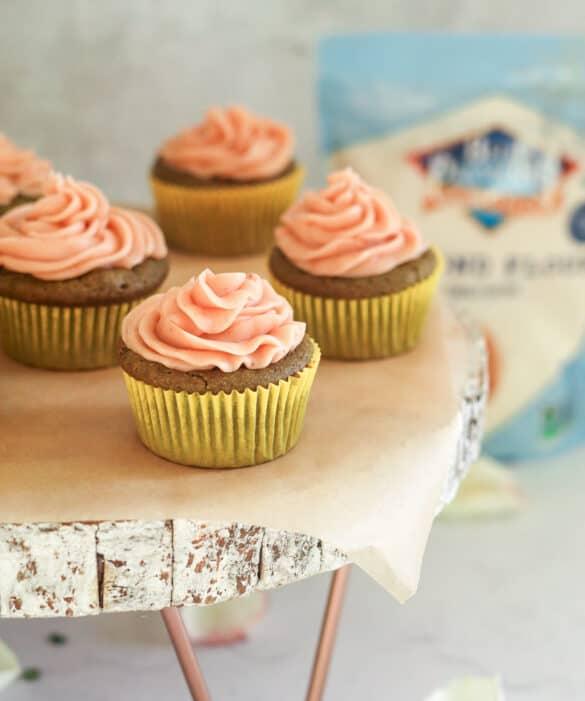 almond flour matcha cupcakes
