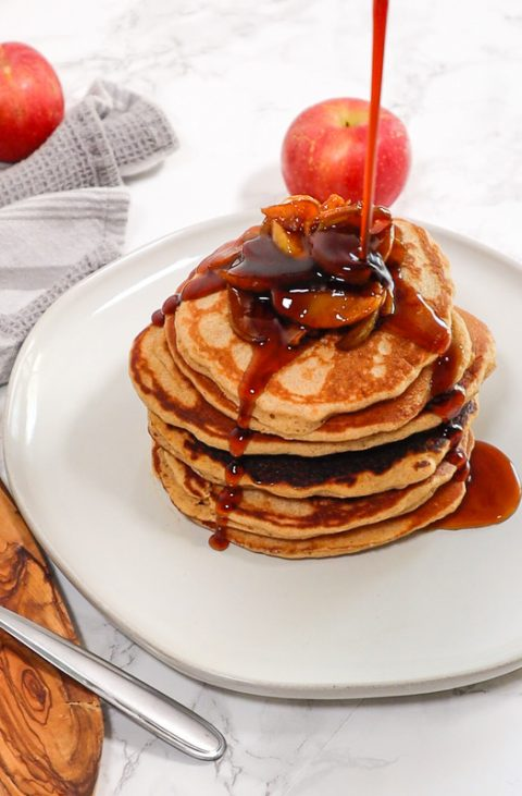 GlutenFree Apple Cinnamon Pancakes