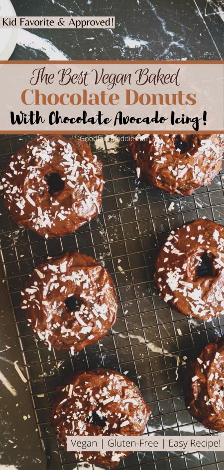 Pin it! Baked Vegan Chocolate Donuts