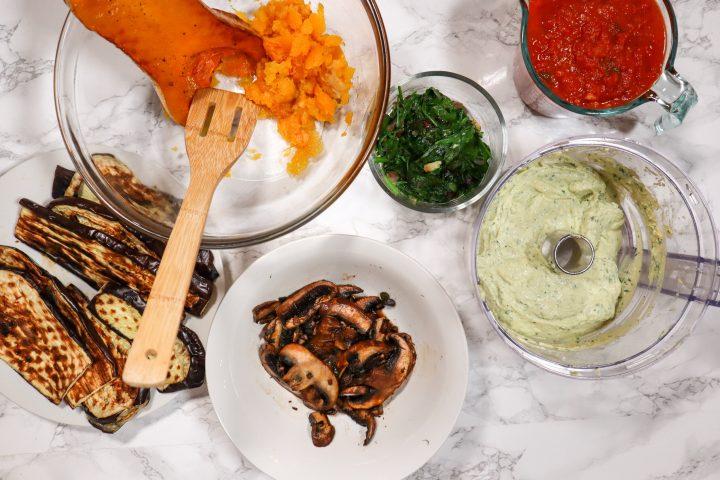 ingredients for vegan lasagna