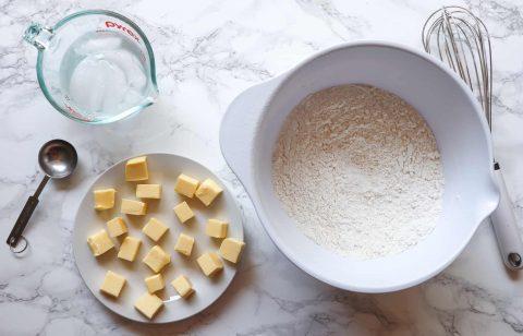Ingredients for gluten free pie crust