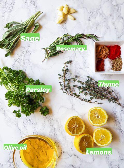 Lemon herb marinade ingredients