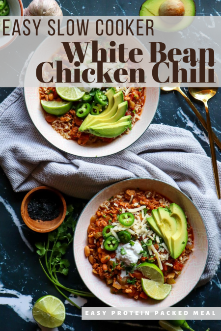 Pin it. white bean chicken chili