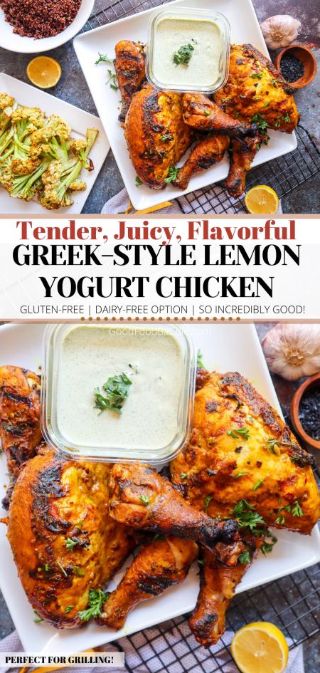 Pin It! The Best Grilled Lemon Yogurt Chicken Recipe