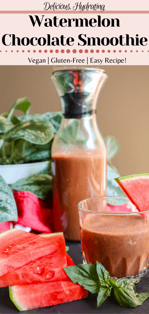 Watermelon Chocolate Smoothie