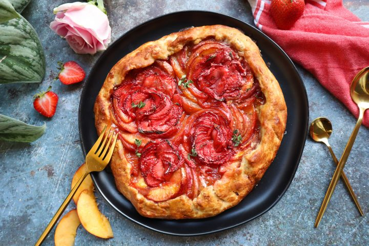 Homemade Strawberry Peach Galette Gluten Free