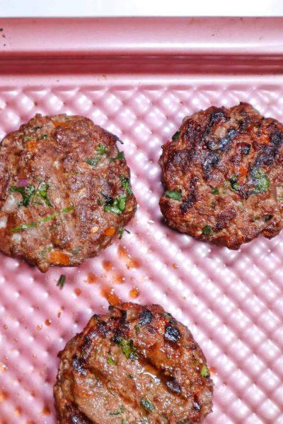 bison burger cooked