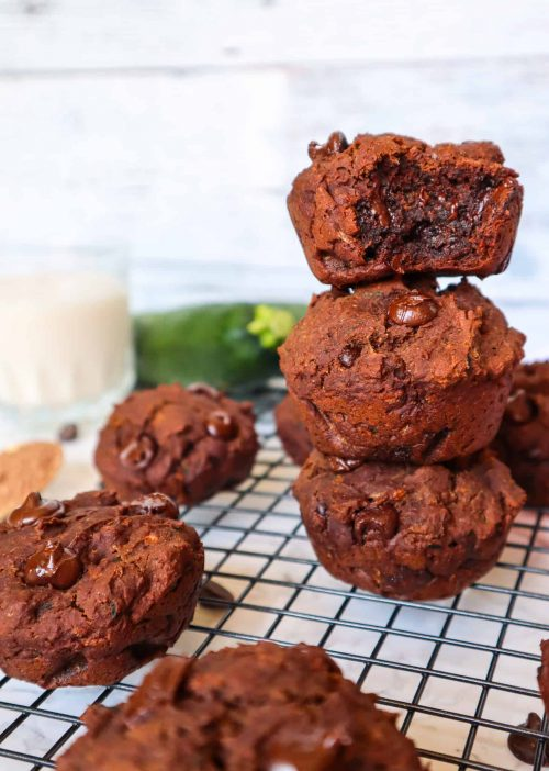 chocolate muffins with vegetables