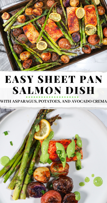 easy sheet pan salmon dinner