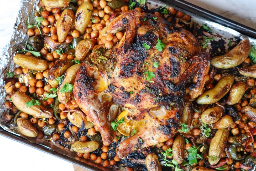 herb crusted butterfly chicken