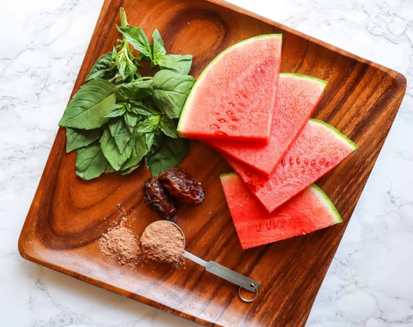 ingredients for watermelon smoothie