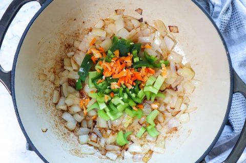 mise en place kale soup